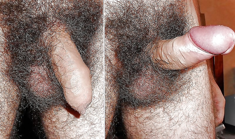 Hairy fella shaved only his hot penis