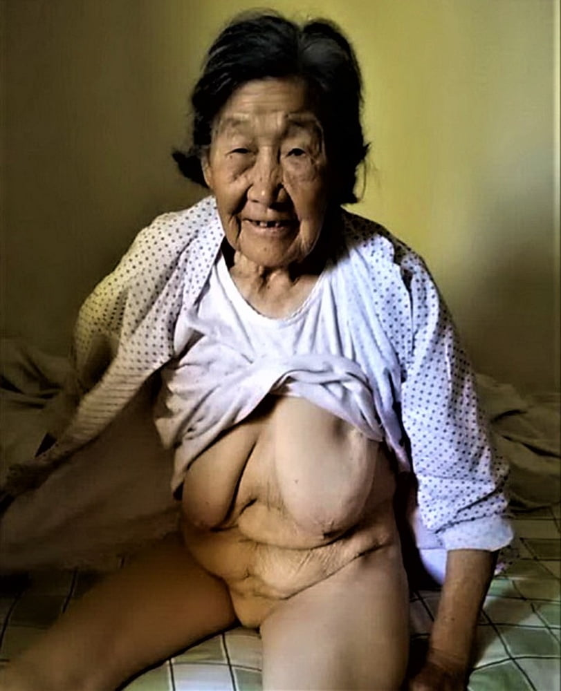 Asian hairy granny