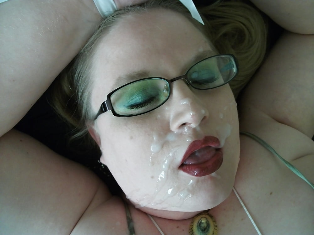 Chubby porn woman facial 7