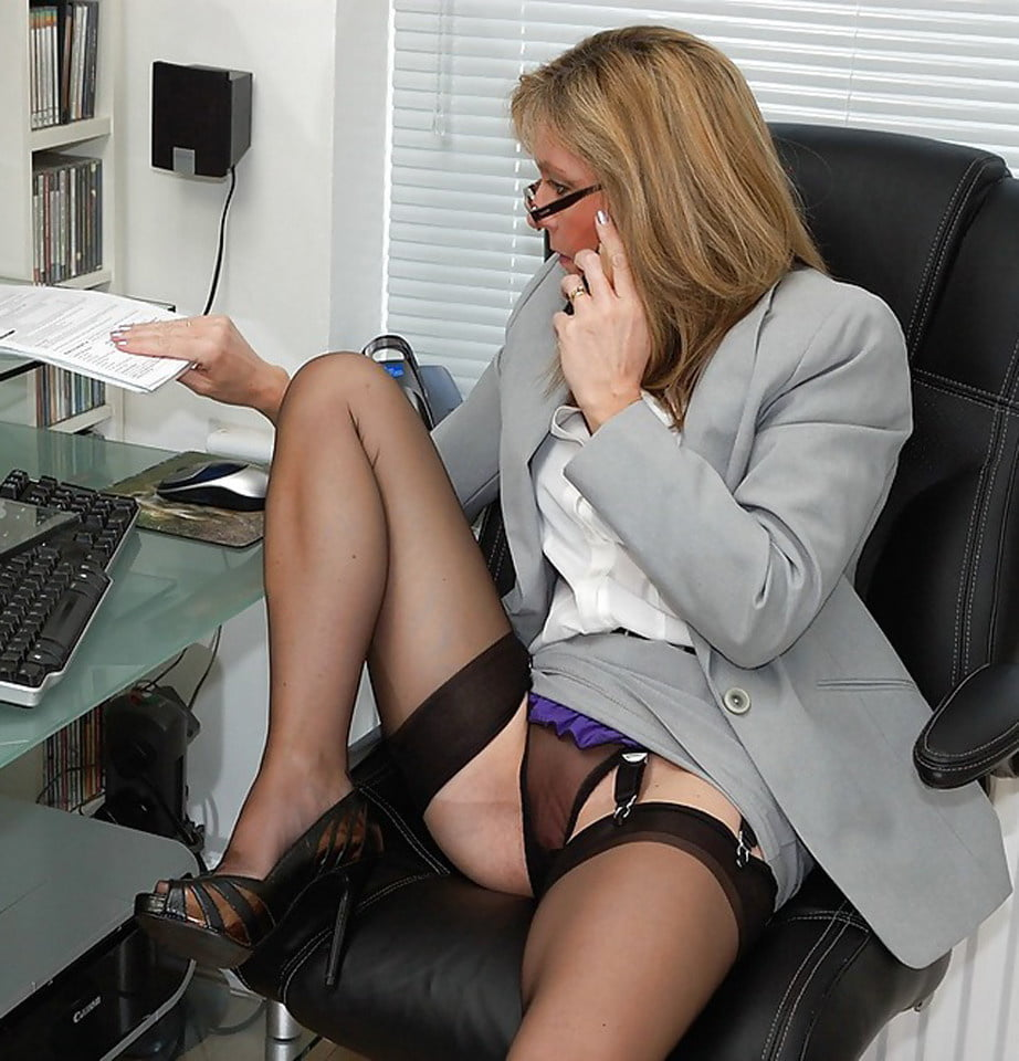 Sexy nude secretary lets her work mate use a sex toy on her before sex