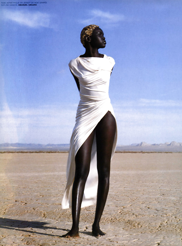 Dark black girl nude-5858