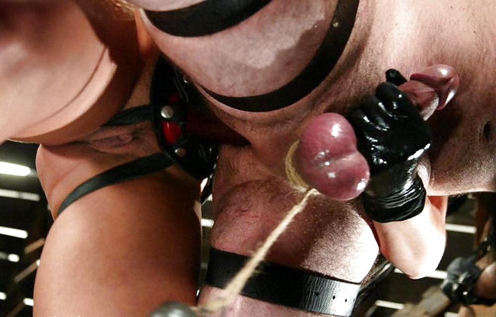 Cock milking bondage balls