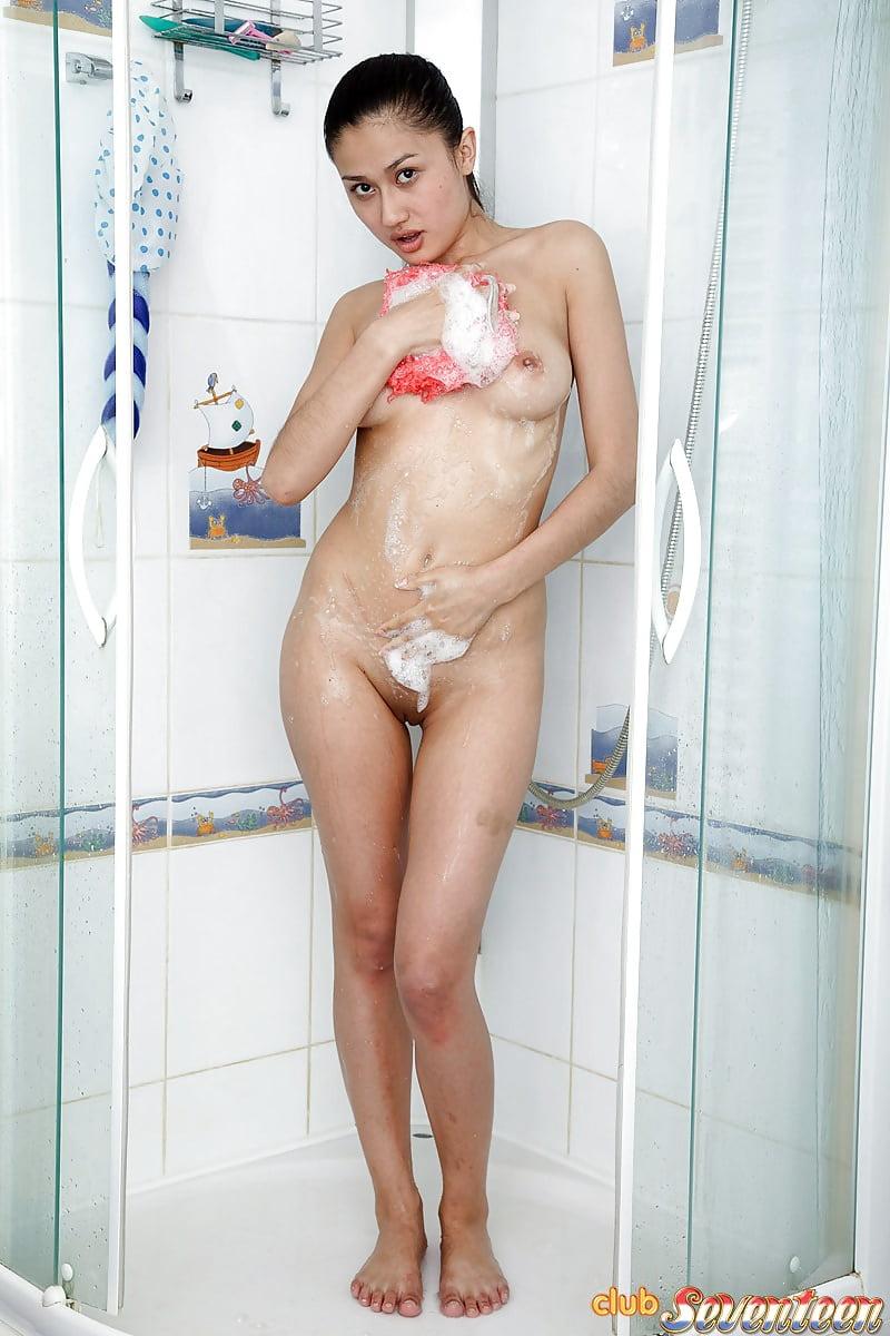 Asian girl naked in the shower tinkerbell farah