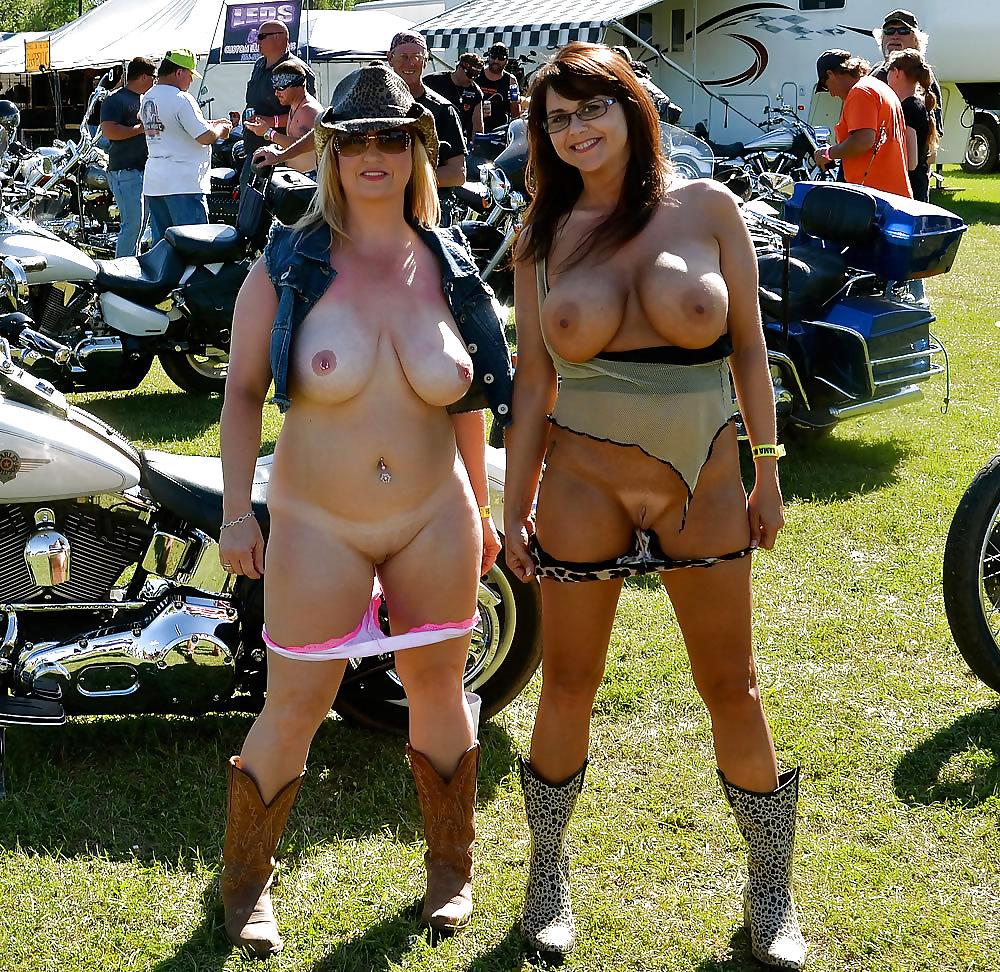 Bike week woman showing their tits
