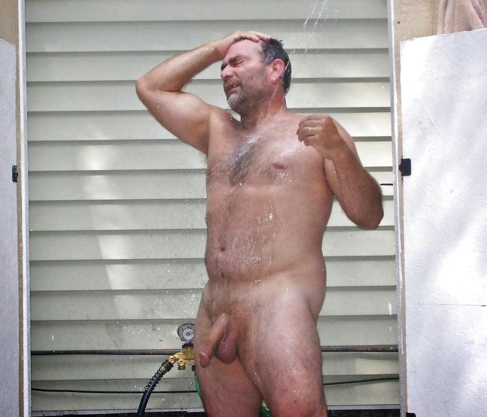 Gay bears shower curtains