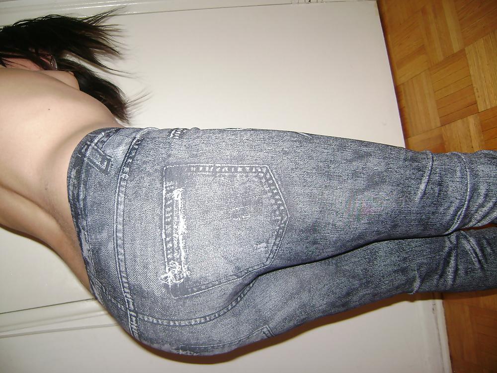 Black jean coat