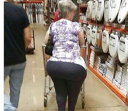 Bubble butt granny