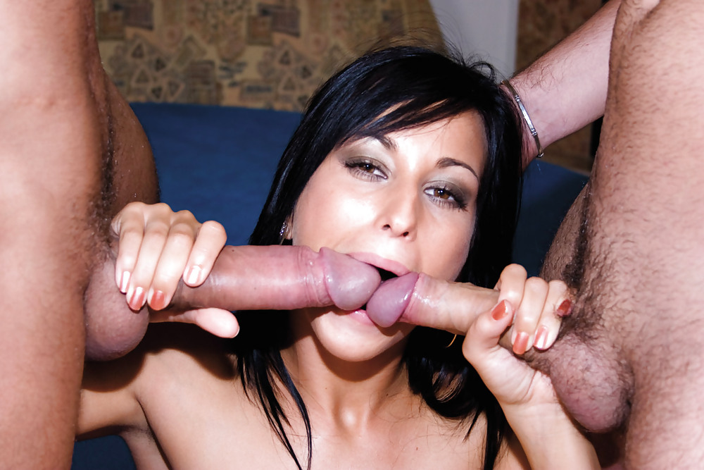 Pics tagged with double blowjob