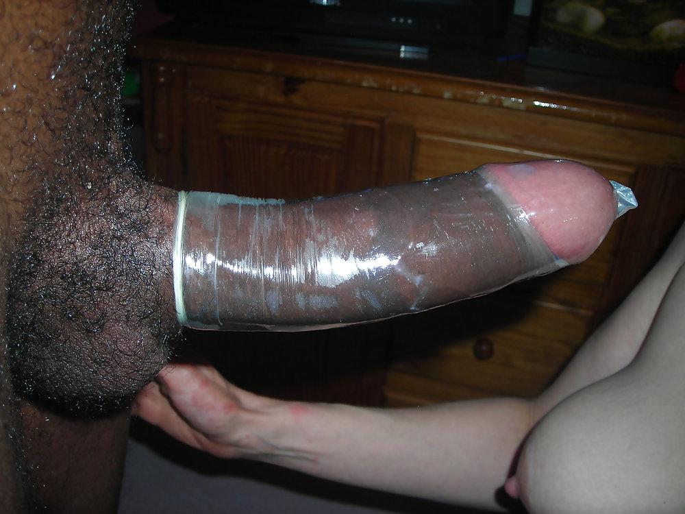 Pantyhose pussy monster cock wearing condom mallu