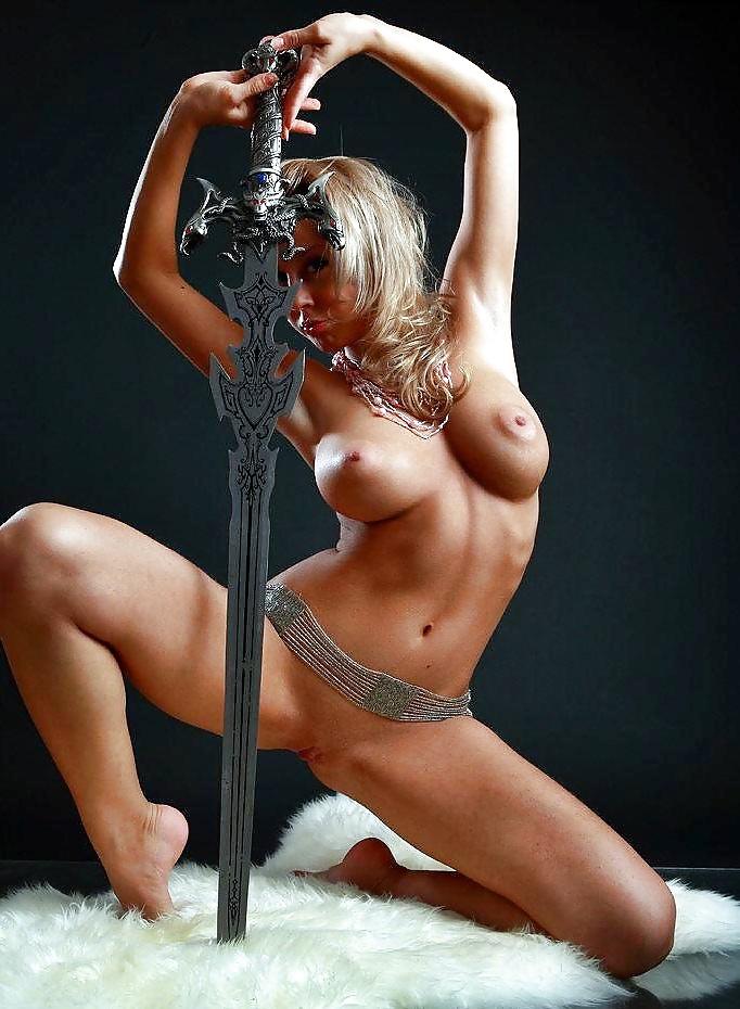 Naked women in swordfish, melina body paint