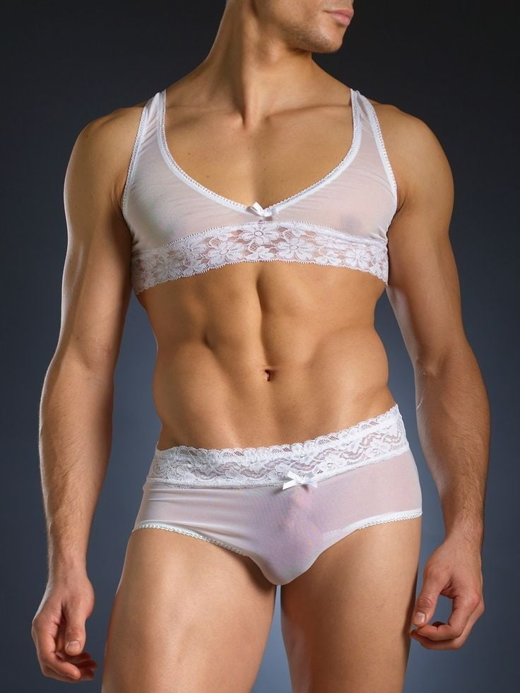 Sexy Homme Lace Men Panties Gay Bikini