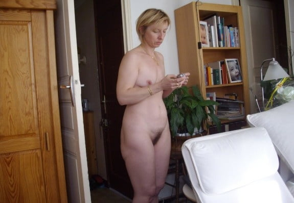 Real wife naked unaware