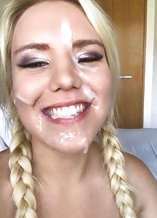 cum covered faces v