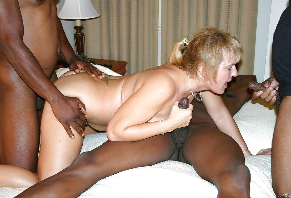 White mature and black