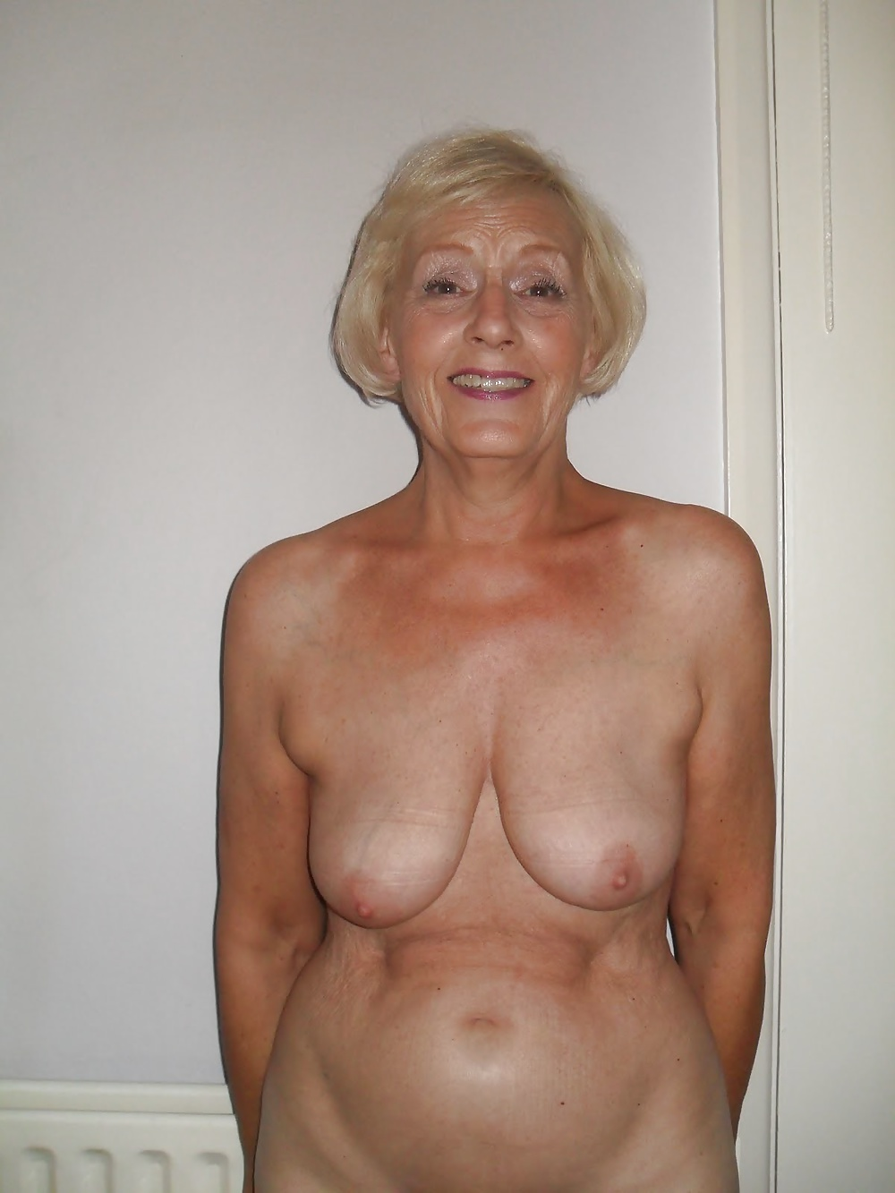 Breasts granny naked flat