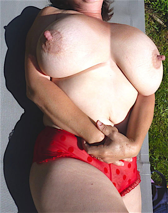 Huge Mature Tits With Hard Nipples