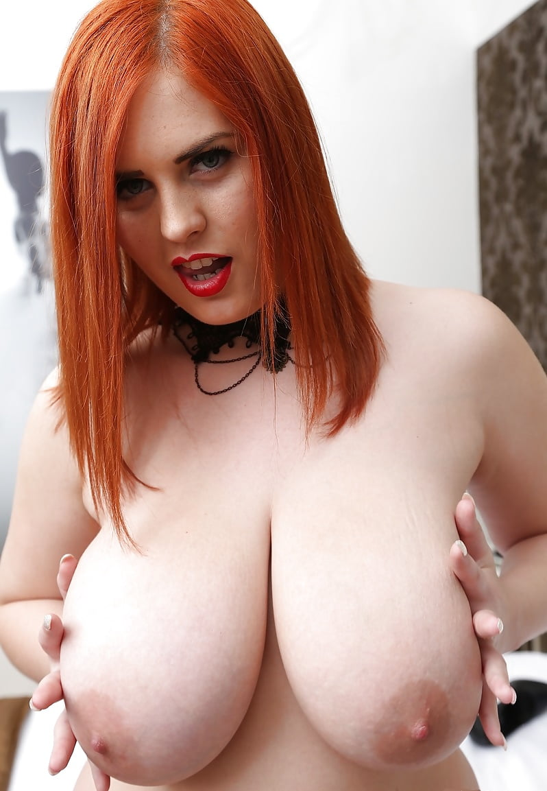 Pale White Redhead Annabel Redd And Her Lovely Natural Big Tits