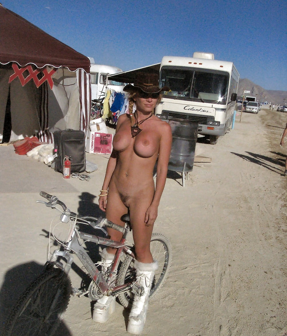 Girls naked burning man