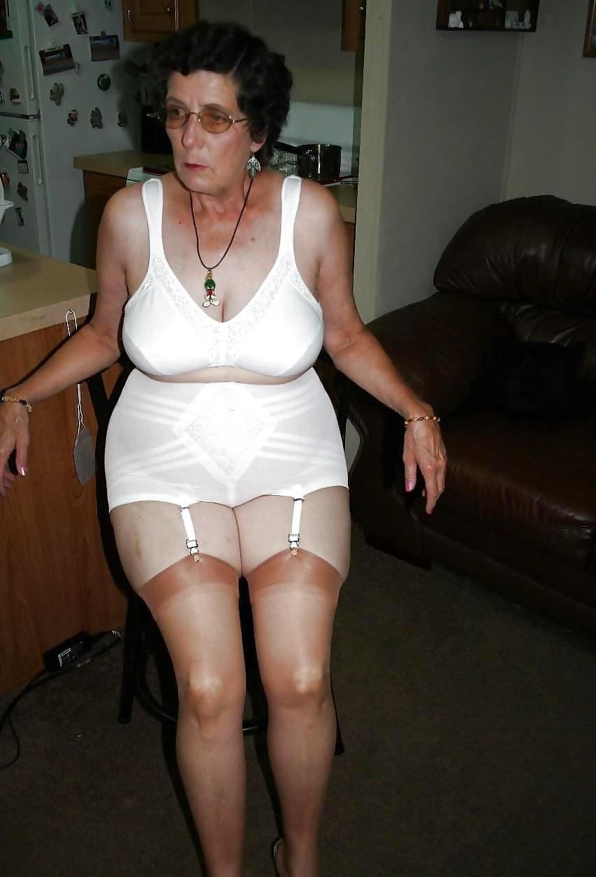 Wearing girdles Grannies