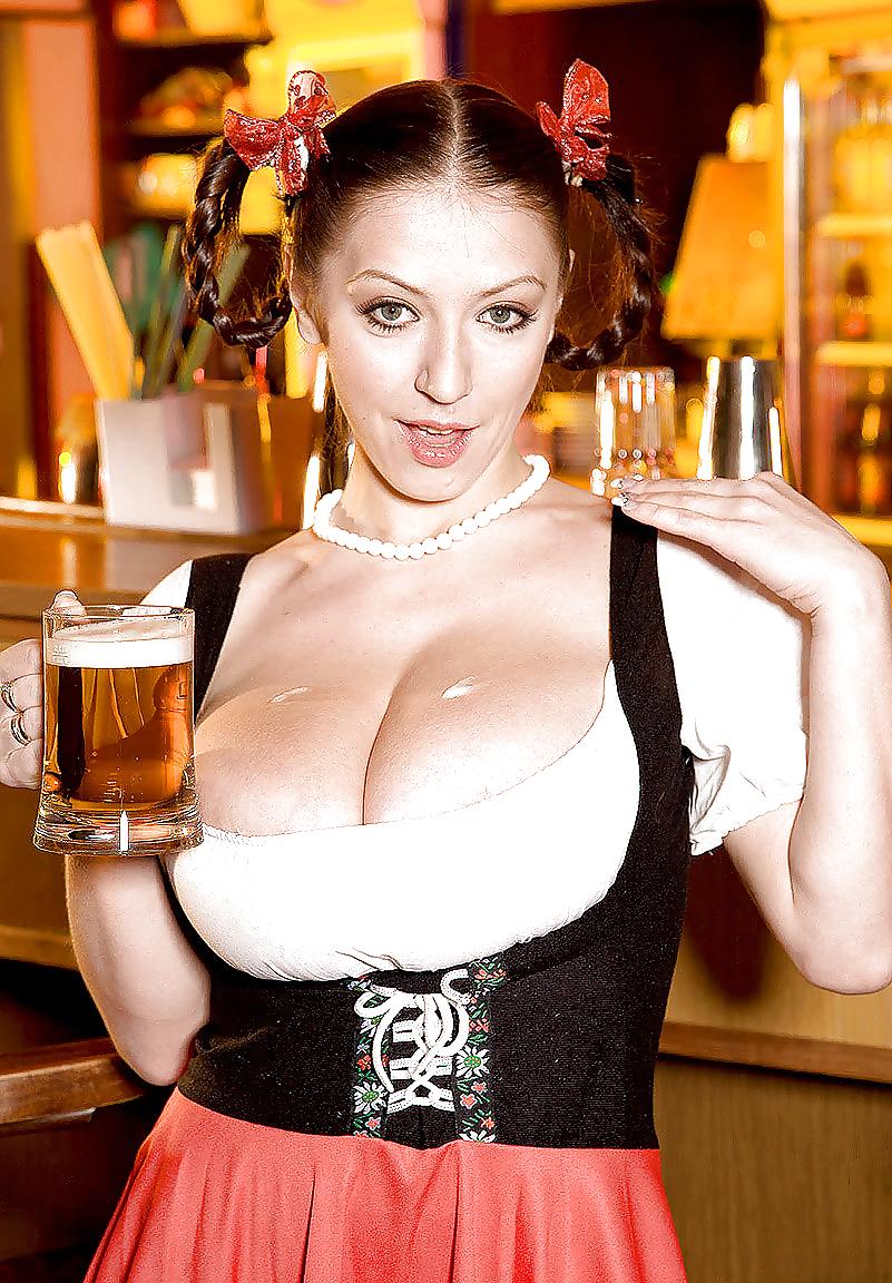 The busty barmaid