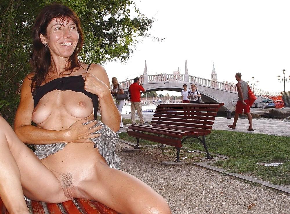 Older women in public pics