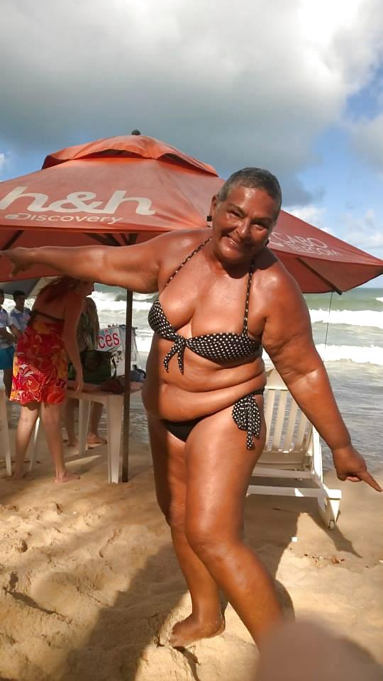 Brazil grannie bikini, hot fat desi bhabhi ass