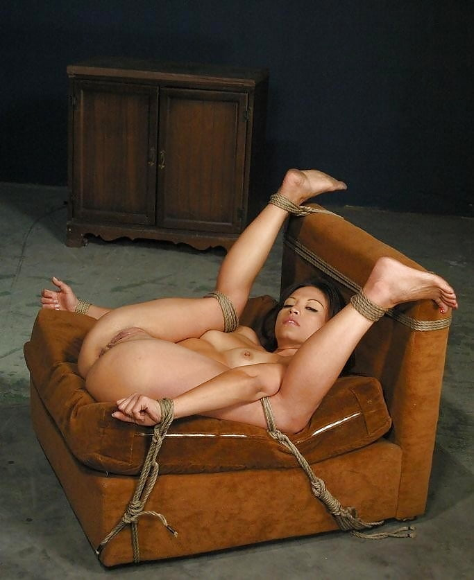 Naked Women Chair Tied Bondage
