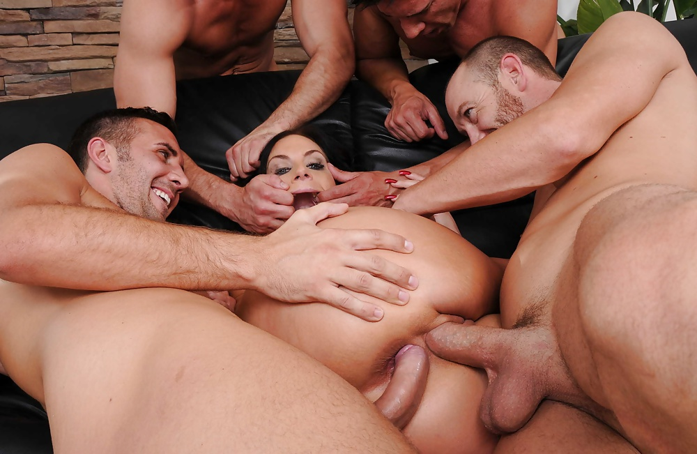 Wild anal porn photo with group action