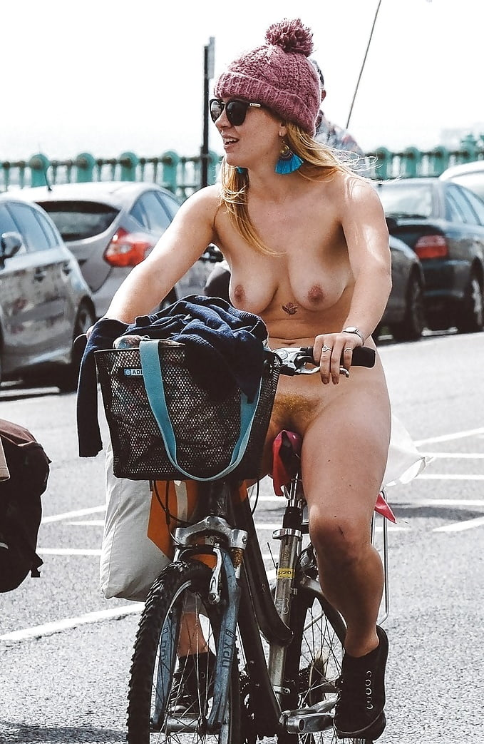 Naked milf riding a bike 14