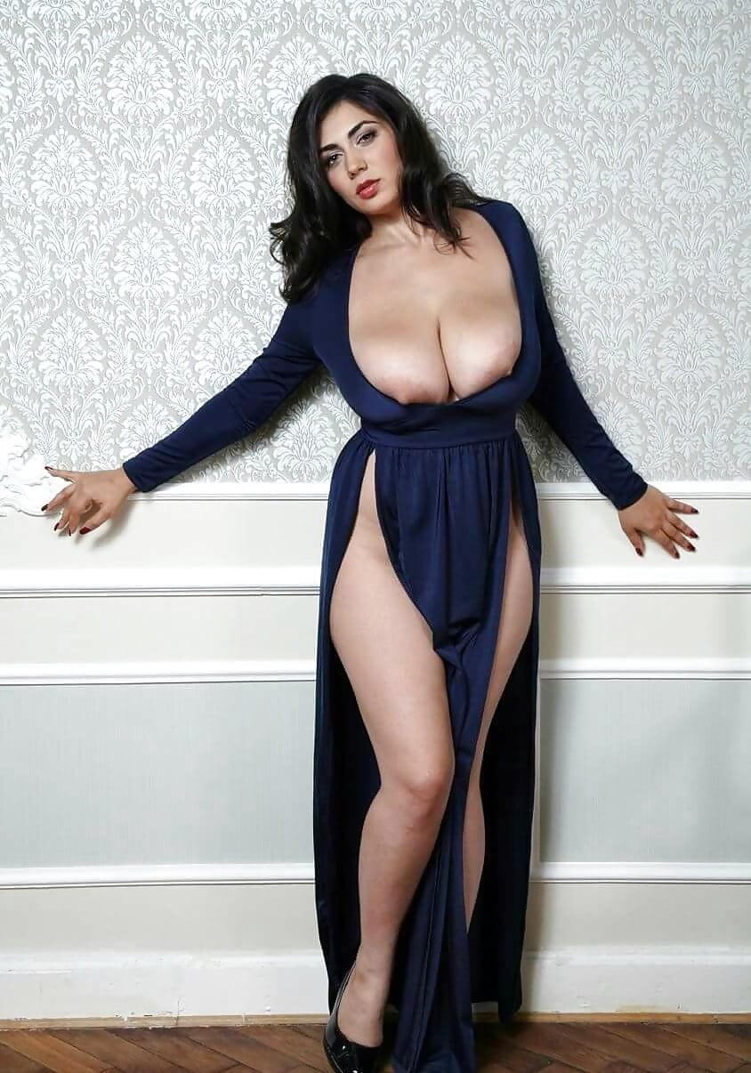 Glamorous Busty Brunette Model Stock Image